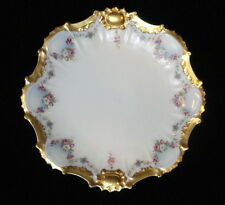 "Vintage LIMOGES China STAR MARK 83/4"" CABINET PLATE Heavy GOLD Trim ROSE Floral"