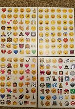 EMOJI STICKERS Mobile 42 Diary Scrapbook Stickers DIY 1 sheets x 48 per sheet UK