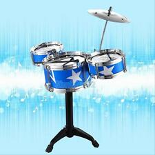 Child Kids Jazz Drum Rock Set Christmas Xmas Gift Music Educational Toy BLUE RED