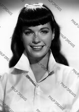 Vintage Portrait Photo re-print Wall Art Print of 1950s Pin-up Bettie Page A4,