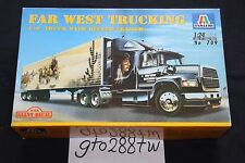 "Italeri 1/24 scale ""FAR WEST TRUCKING"" Ford Aeromax 106 with 48ft Reefer Trailer"