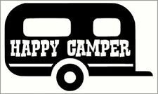Happy Camper Caravan Adesivo decalcomania in vinile (GRANDE)