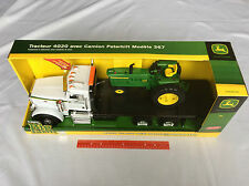 New 46212 John Deere 1/16 Ertl Big Farm Peterbilt 367 Flatbed & 4020 Tractor 3+