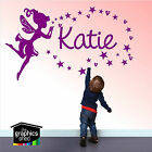 Wall Art Sticker - Personalised Name Fairy, Stars, Girls Bedroom Childrens, Kids