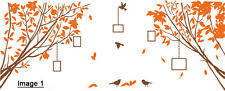 Tree Branches with Birds and Photo Frames Wall Art Vinyl Sticker, DIY Wall Decal