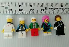 Lego minifigure assorted lot of 5 see pictures free USA shipping