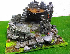 "WARHAMMER WAR GAME SCENERY "" BIG  DREADSTONE ROUND TOWER  "" BUILDING PRO PAINTED"