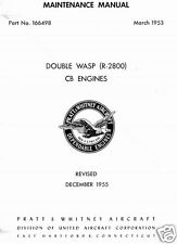 Pratt & Whitney R-2800 Double Wasp Maintenance historic manual rare detail