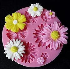 3D Flower Silicone Mold Fondant Cake Decorating Chocolate Sugarcraft Mould DIY F