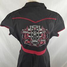 New Sourpuss XXL Johnny Cash Black Red Bowling Dress Rockabilly Hellbilly Pinup