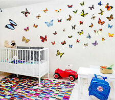 Colorful butterfly wall decals Removable stickers home decor kids nursery