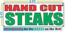 HAND CUT STEAKS Banner Sign NEW Larger Size Best Quality 4 the $ Money