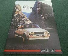 August 1985 / 1986 Model CITROEN VISA inc GTi 17D 17RD 14TRS - UK BROCHURE K2041