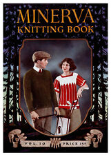 Minerva Knitting Book #10 c.1922 Vintage Sportswear Patterns for Men and Women