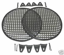 15 INCH SUBWOOFER SPEAKER COVERS WAFFLE MESH GRILL GRILLE PROTECT PAIR 2 W CLIPs