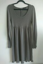 THE WHITE COMPANY Wool Silk & Cashmere Knit Jumper Dress L 12 14 Brown Grey Mink