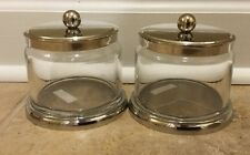 NEW 2PC Pottery Barn Holden Bath SMALL Canister Set