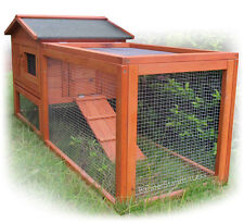 Wooden Chicken Coop Hen House Rabbit Hutch Poultry Wood Cage w/ Run (4L-41)