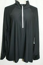 3X Womens Energy Zone speed Dri Technology Pull Over BLACK Light Jacket NWT! $55