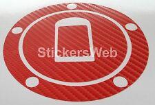 Adesivo Tappo Serbatoio KAWASAKI ZX10R ZX-10R 2004-05 (Carbonio Rosso) Cod.0532