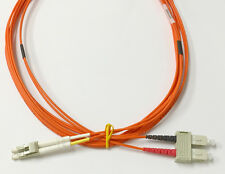 LC to SC 50/125 Multimode Duplex Fiber Patch Cable - OM2 - 3 Meter