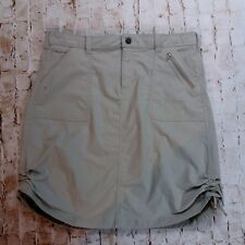 Womens ISIS Skirt Size 12 Tan Nylon Stretch Active Travel Hike Quick Dry Adjust