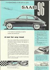SAAB 96 SALES 'BROCHURE'/SHEET 1961 1962