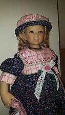 "ANNETTE HIMSTEDT TILLY KINDER DOLL LE 28"" W/ BOX COA 2003. PRISTINE. XTRA DRESS"