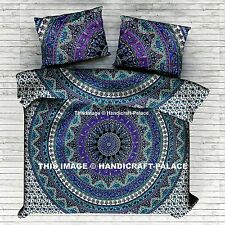 Indian Elephant Mandala Duvet Doona Cover With Pillow Cover Queen BEDDING EDH