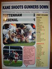 Tottenham Hotspur 2 Arsenal 1 - 2015 Premier League - souvenir print