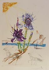 SALVADOR DALI Iris of Dali's Youth HAND SIGNED COA Surrealistic Flowers Etching