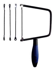 Tungsten Carbide Rod 6 Inch Hacksaw Tile Coping Saw, 3 Extra Tile Cutter Blades