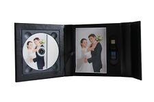 Negro USB caso caso de DVD/CD Caja de presentación, Caja. 2D. Boda, Bautizo