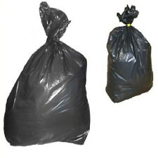 "100 Heavy Duty Black Refuse Sacks Rubbish Bin Bags 180gauge 18"" x 29"" x 38'' App"
