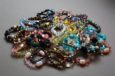45 New Crystal Beads Mixed Bracelet Jewelry Lot Wholesale Clearance