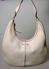 Kate Spade Distressed White Pebble Leather Hobo Handbag