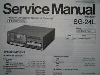 PANASONIC SG-24L Stereo Cassette receiver Service manual wiring parts diagram