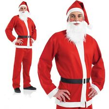 Adults Santa Claus Suit, Father Christmas Deluxe Fancy Dress Costume Xmas Outfit