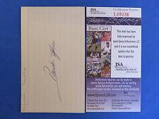 PONCHO HERRERA SIGNED 3x5 INDEX CARD ~ JSA L08236 ~ 1958-1961 PHILLIES ~ D 1995