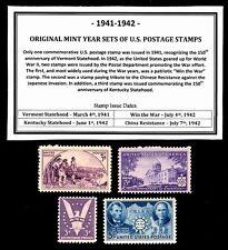 1941-1942 YEAR SET OF MINT -MNH- VINTAGE U.S. POSTAGE STAMPS