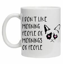 I Don't Like Morning People or Mornings Funny Tea Coffee 10oz Ceramic Mug Cup