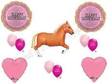 PINK BANDANA TAN HORSE HAPPY Birthday Party Balloons Decoration Supplies Cowgirl