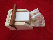1 Wooden Wood Soap Mold Loaf Bar Cutter Box