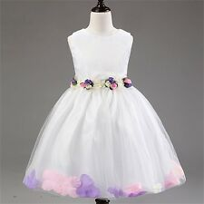 Wedding Birthday Kids Pageant Evening Party Formal Flower Girl Dress Ball Gown