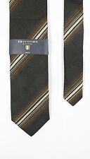 Profuomo - Multi Brown Striped Silk Tie - One Size - *NEW WITH TAGS* RRP £40