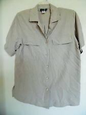 SILK NCOUNTER SIZE SMALL LIGHT TAUPE 100% SILK BLOUSE
