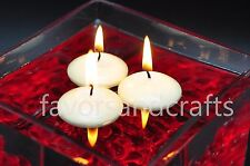 10 Floating Candles Lot IVORY Wedding Decorations Centerpieces Supplies Wax Bath