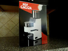 Gaggia MDF Burr Espresso Coffee Grinder - Mint Cond, Made in Italy - No Reserve!
