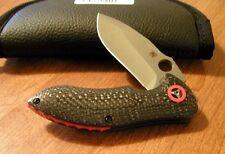 SPYDERCO New Carbon Fiber Handle Rubicon CPM-S30V Plain Edge Blade Knife/Knives