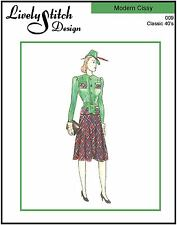 "Classic 40's / sewing pattern for the 21"" Modern Cissy by Madame Alexander"